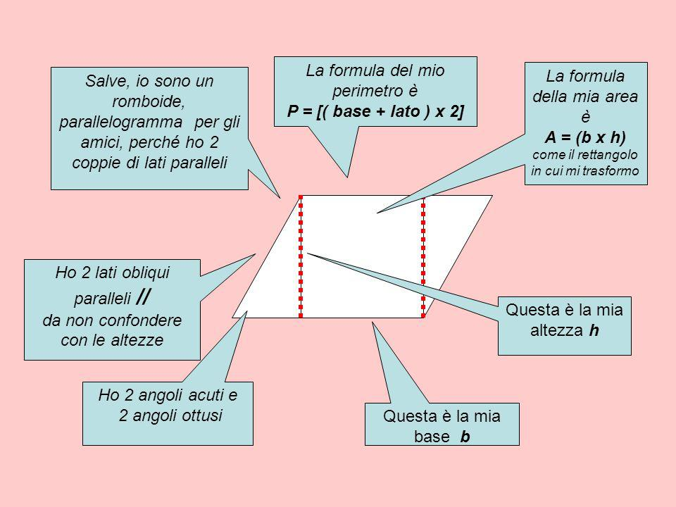 P = [( base + lato ) x 2] A = (b x h)